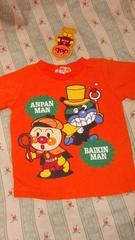 新品アンパンマンばいきんまん半袖 Tシャツ定価\1404オレンジ