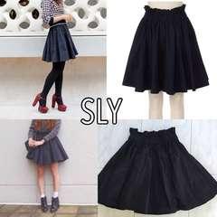 SLY シャーリングフレアスカート スライ サイズ1