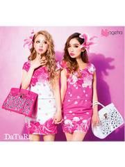 DaTuRa☆雑誌掲載大人気☆ラブローズ☆セットアップ☆ピンク☆新品タグ付き