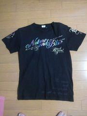 美品ビーチサウンドバナナセブン半袖Tシャツ黒ブラックレインボーボディグローブ・送0
