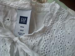 中古ギャップ半袖カットソ-GAP140白gap最安発送 簡易梱包定形外140円