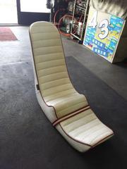 GS400 三段シート 約50cm オオカワシート 白レザー赤フチ