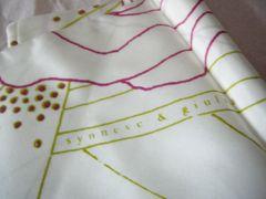 薔薇柄スカーフ50X50cmラッピング