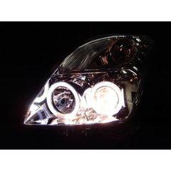 スズキ スイフト ZC11系ZD21系 LEDイカリング&プロジェクターヘッドライト インナー黒