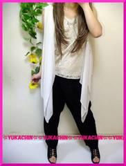 春新作◆大きいサイズ5Lベージュノースリチュニック×ブラックパンツ◆2点セット