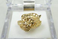 K18 ゴールド 0.01ct ドラゴン 龍 ダイヤモンドリング 18号