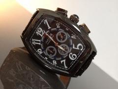 新品メンズ腕時計☆ClubFaceブランド☆渋いブラック