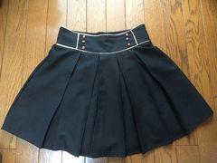【INGNI】ウエストゴム黒プリーツミニスカート