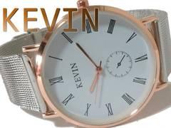 新品・未使用 1スタ★KEVIN WATCH お洒落な大型メンズ腕時計