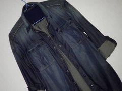 SISLEY シスレー★グラフィック デニムシャツ M 定12,000円