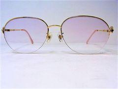 K18 メガネ 眼鏡 レディース ルビー0.22ct ダイヤ0.04ct