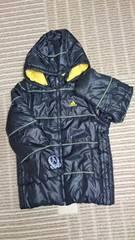 adidas 中フリース地 中綿2way暖かコート サイズ130 美品 アディダス
