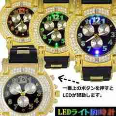 NEW★ビッグフェイスイルミネーション機能付き腕時計RB
