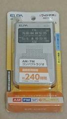 【新品未使用!!】AM/FMコンパクトラジオ(ER-C37F)