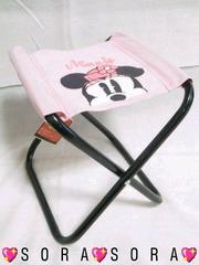 ディズニー【ミニー】可愛い♪アウトドアに!コンパクト折り畳み椅子チェアー