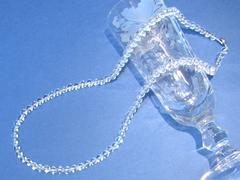 【新品】AAA 水晶ネックレス6mm/60cm