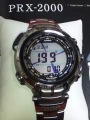 定102600円プロトレック最高峰マナスルPRX-2000Tタフソーラー電波腕時計
