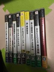 PSPソフト 9本まとめ売り MHP 地球防衛軍 無双 ロックマン