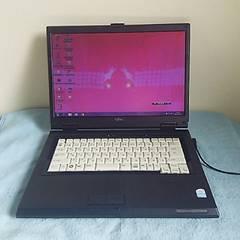 ○キレイ 格安即決○DVD高速コピー Win7 Core2高性能富士通ノートパソコン