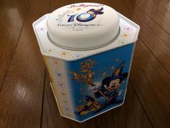 美品ディズニーシーTDS10周年Be Magicalクッキー缶ミッキー