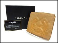 CHANEL シャネル カンボンライン 二つ折り財布 ガマ口