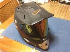 オフロード  ヘルメット モーター系ステッカー付き 再大幅値下げ