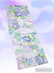 【和の志】女性用変り織り浴衣◇F◇白系・古典柄◇KWF628-18