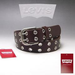 LEVI'S リーバイス 牛革 ダブルピン ベルト 40mm 6090 ブラウン