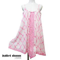 新品juliet dunn水着の上にチュニックワンピース ネオンピンク#1