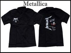 メタリカバンドロークスタイル(2XL)Metallica半そでシャツ