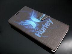docomo xperia z2 so-03f手帳型レザーケース◆Hurleyハーレー