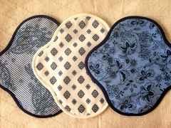 ハンドメイド 布ナプキン軽い日用3枚セット ダンガリー柄