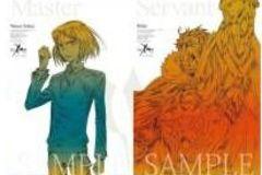 Fate/Zero Blu-rayDiscBoxI早期予約特典線画ポスター/ウェイバー&ライダー