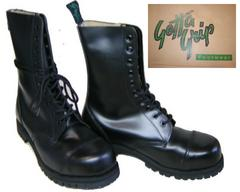 ゲッタグリップおでこ靴10ホール ブーツ新品7510BLスチール入uk4