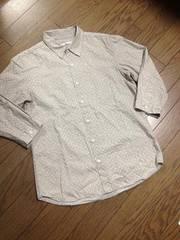 美品 HARE ドット柄7分丈シャツ 日本製 ハレ