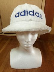 アディダス 帽子 ホワイト adidas ファー 90年代