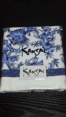 新品 KANSAI YAMAMOTOフェイスタオル(白×青花柄)