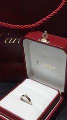 正規Cartier極上ダイヤスリーゴールドソリテール46万超え