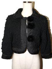美品 Blumarine ブルマリン ミンクファーボタン付きジャケット