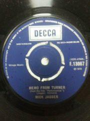 ミックジャガーEPレコードローリングストーンズメモ・フロム・ターナー UK盤