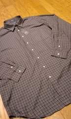 DANIEL-CREMIEUXデザインチェック 長袖シャツ 紺ベース サイズ2XL XXL