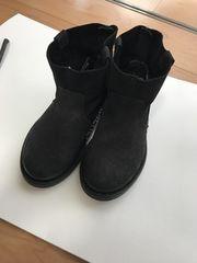 美品 ZARAキッズ レザーブーツ ブラック 18cm