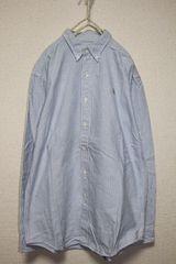 ポロラルフローレン*POLO RALPH LAUREN★ストライプコットンシャツ(170)used