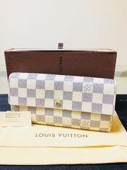 1円 ◆正規品◆ 超美品 ◆ ルイヴィトン ダミエ アズール 長財布