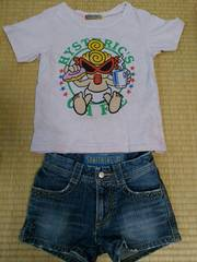 ヒスミニTシャツとショートパンツ2点セット130�p