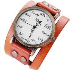オレンジ 数式 腕時計 ぐるぐる