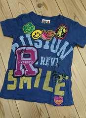 ラブレボ☆LOVEワッペンTシャツ*120☆ストーリーズ/STORIES*美品