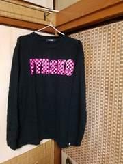 黒×ピンク☆シンプルロゴロンT《L》ムラスポ購入