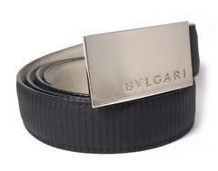 正規ブルガリベルトミレリゲメンズカット可110cmBVLGARIIブラック黒
