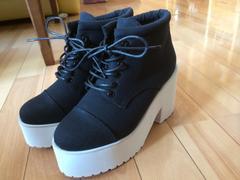 新品箱付き★ミーア★厚底靴★黒★サイズ1★定価14904円★